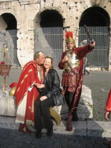 Grab a kiss from Caesar at the Colosseum.