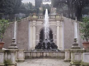 Powerful fountain blasts into the air at Villa d'Este.